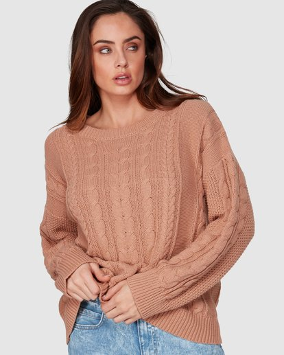 1 That Cable Crew Sweater Yellow 6507794 Billabong