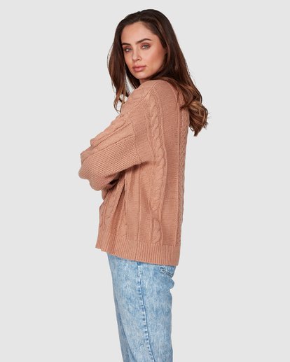 3 That Cable Crew Sweater Yellow 6507794 Billabong