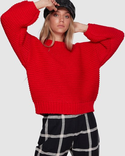 1 I See You Sweater Red 6507800 Billabong