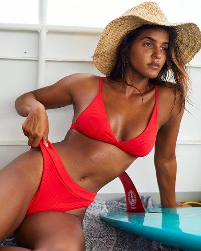 0 For The Love Of Maui Bikini Bottoms Red 6507807X Billabong