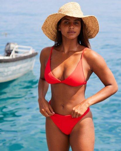 0 For The Love Of Tri Bikini Top Red 6507809X Billabong