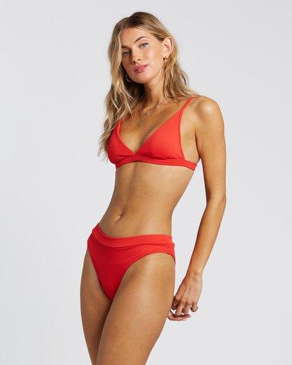 4 For The Love Of Tri Bikini Top Red 6507809X Billabong