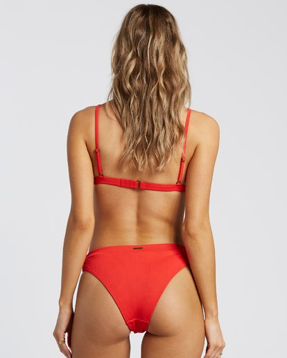3 For The Love Of Tri Bikini Top Red 6507809X Billabong