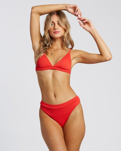 1 For The Love Of Tri Bikini Top Red 6507809X Billabong