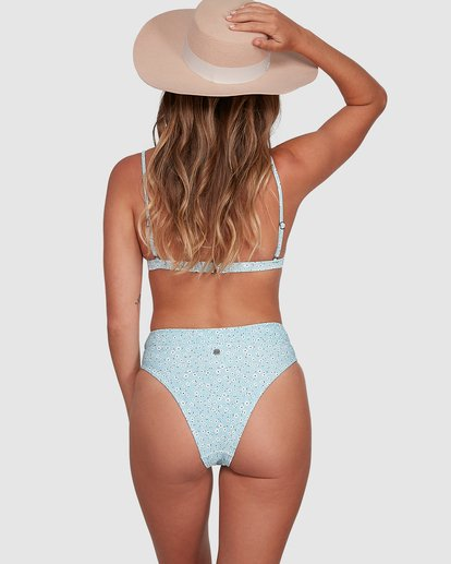 6 Bluesday Maui Rider Bikini Bottoms Blue 6507918M Billabong