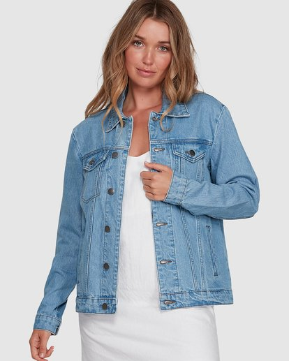 0 Salty Water Jacket Blue 6507933X Billabong