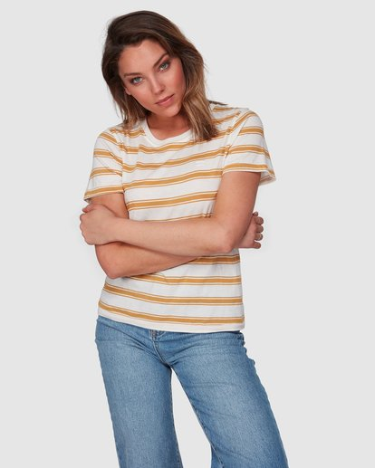 1 New Soul Babe Short Sleeve Tee Yellow 6508004 Billabong