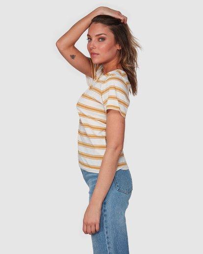 2 New Soul Babe Short Sleeve Tee Yellow 6508004 Billabong