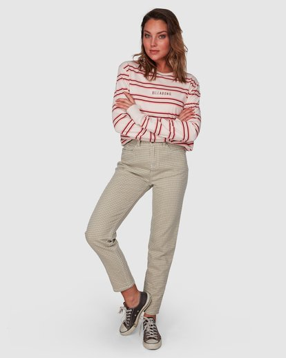 7 Check It Mom Jeans Beige 6508431 Billabong