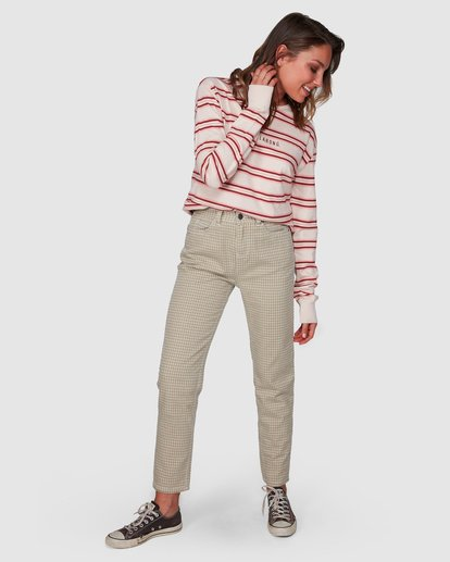 0 Check It Mom Jeans Beige 6508431 Billabong