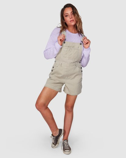6 Check It Out Overalls Beige 6508432 Billabong