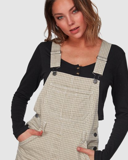4 Check It Out Overalls Beige 6508432 Billabong