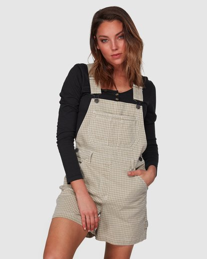 1 Check It Out Overalls Beige 6508432 Billabong