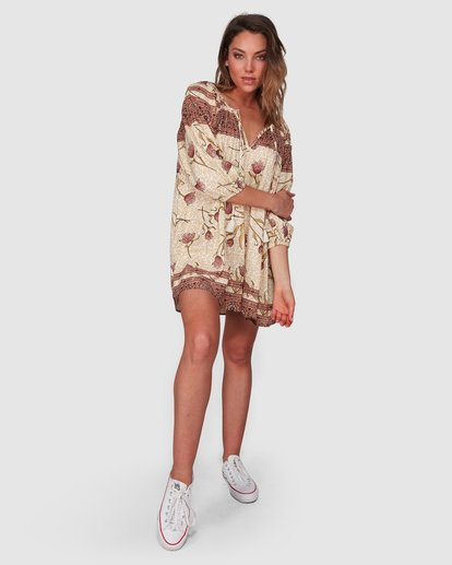 6 Driftaway Dress Beige 6508472 Billabong