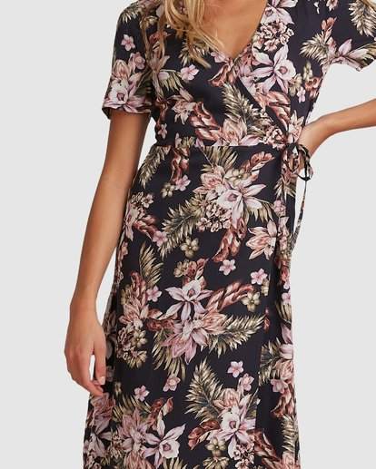 2 Easy Love Midi Dress Black 6508473 Billabong