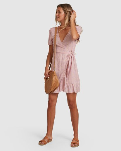 6 Lavender Sky Wrap Dress Purple 6508488 Billabong