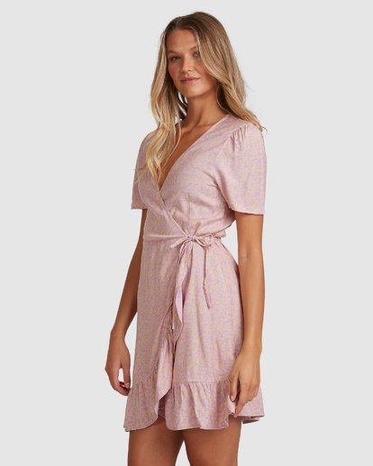 2 Lavender Sky Wrap Dress Purple 6508488 Billabong