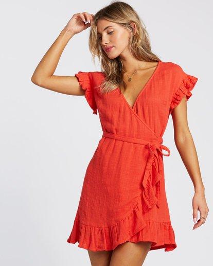 1 Wrap It Up Dress Red 6508494 Billabong