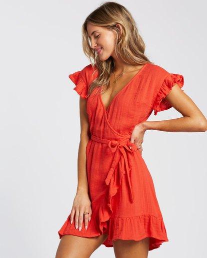 2 Wrap It Up Dress Red 6508494 Billabong