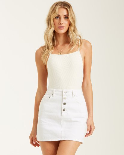 1 Cute As A Button Skirt White 6508524 Billabong