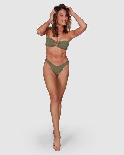 8 Waffle Bandeau Bikini Top Green 6508558 Billabong