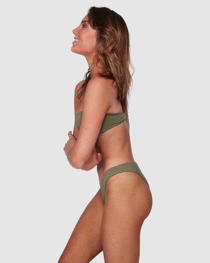 4 Waffle Bandeau Bikini Top Green 6508558 Billabong