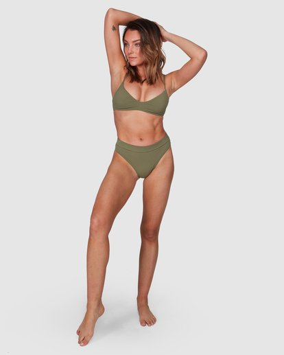 8 Waffle Trilette Bikini Top Green 6508559 Billabong