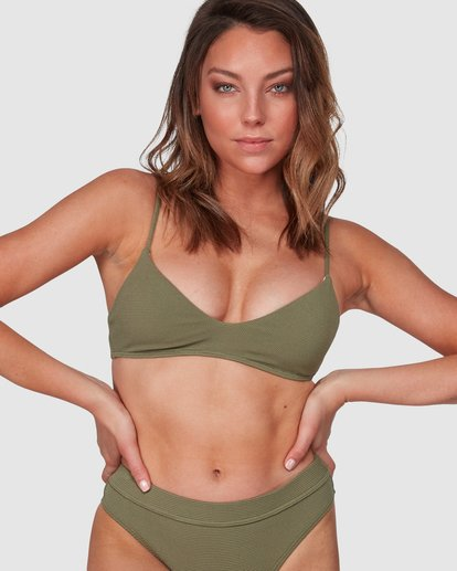 0 Waffle Trilette Bikini Top Green 6508559 Billabong