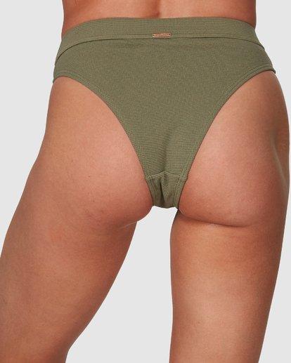 3 Waffle Maui Rider Bikini Bottoms Green 6508562 Billabong