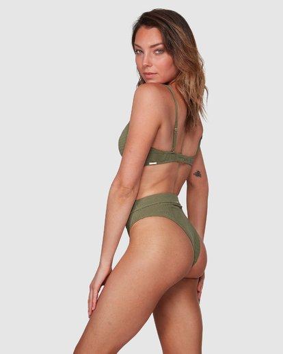 1 Waffle Maui Rider Bikini Bottoms Green 6508562 Billabong
