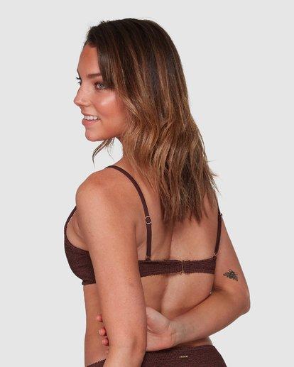 2 Summer High Ring Bralette Bikini Top Brown 6508569 Billabong