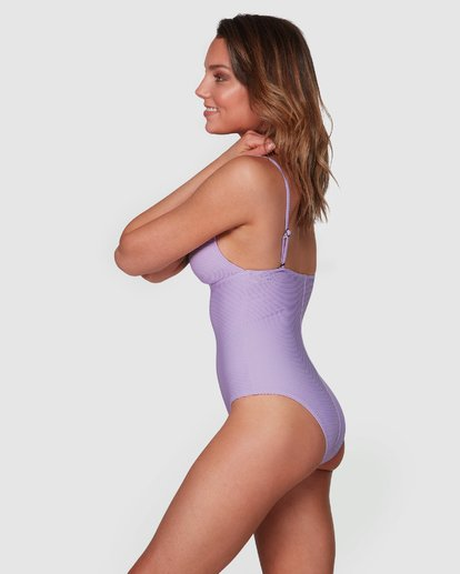 2 Tanlines Plunge Lowrider One Piece Purple 6508578 Billabong