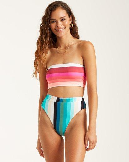1 Sol Stripes Rise Bikini Bottoms Black 6508624 Billabong