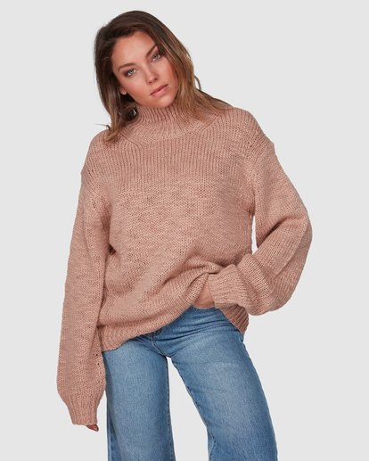 1 Chella Sweater Pink 6508793 Billabong