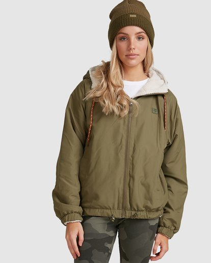0 Boundary Reversible Jacket Green 6508890 Billabong