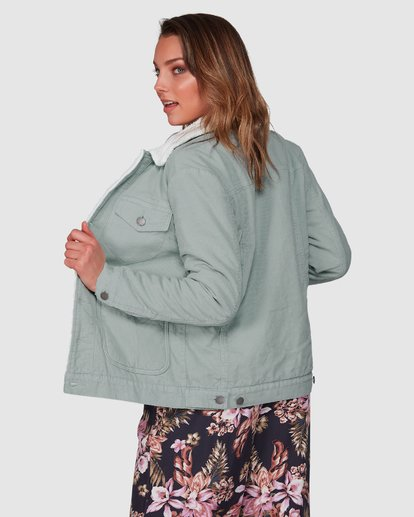 3 New Days Jacket Green 6508892 Billabong