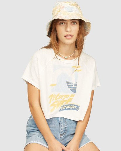 0 Wrangler Take It Back T-Shirt White 6513016 Billabong