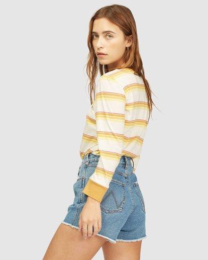2 Wrangler Going Retro Long Sleeve T-Shirt Yellow 6513071 Billabong