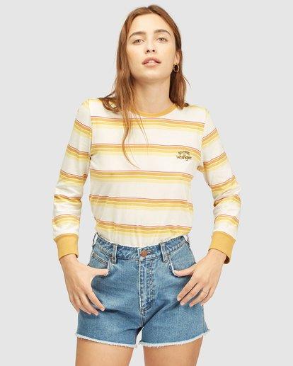 0 Wrangler Going Retro Long Sleeve T-Shirt Yellow 6513071 Billabong