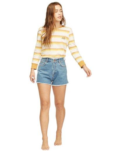 3 Wrangler Going Retro Long Sleeve T-Shirt Yellow 6513071 Billabong