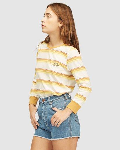 1 Wrangler Going Retro Long Sleeve T-Shirt Yellow 6513071 Billabong