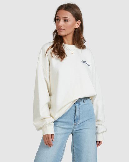 1 Chase The Sky Crew White 6513210 Billabong