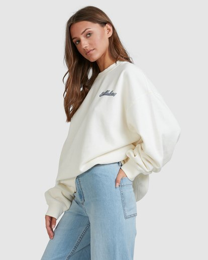 2 Chase The Sky Crew White 6513210 Billabong
