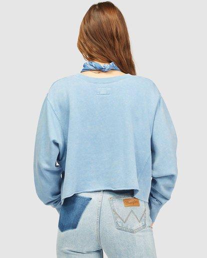 3 Wrangler Past Time Crew Neck Sweatshirt Blue 6513211 Billabong