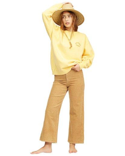 5 Wrangler Wayward Crew Neck Sweatshirt Yellow 6513213 Billabong
