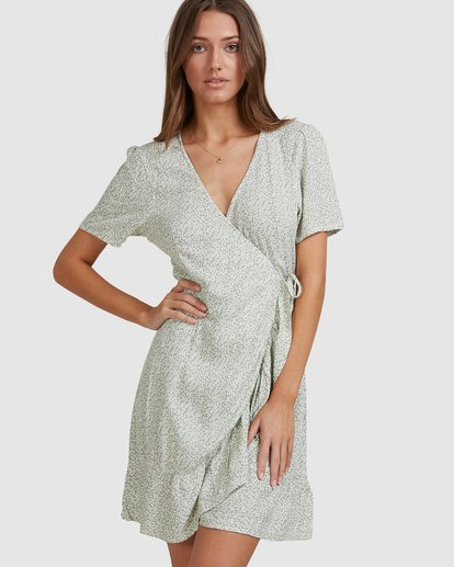 5 Sea Bloom Dress Green 6513464 Billabong