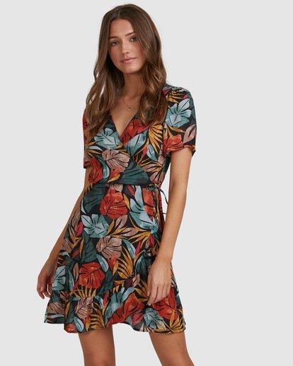 2 Sundaze Wrap Dress Black 6513469 Billabong
