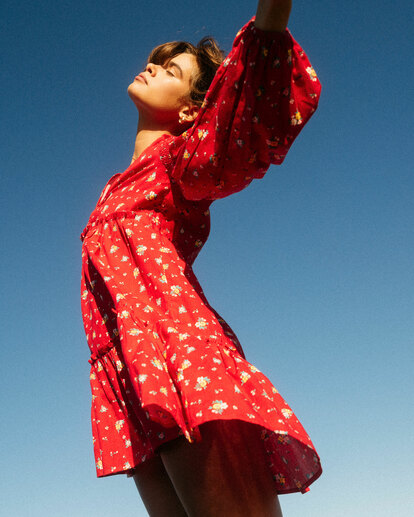 0 Wrangler Falling For You Dress Red 6513486 Billabong