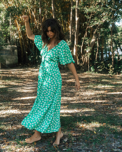 0 Wrangler Floral Dream Dress Green 6513487 Billabong