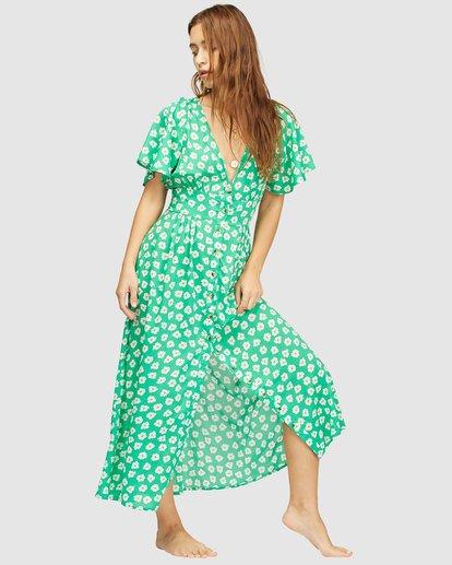 2 Wrangler Floral Dream Dress Green 6513487 Billabong